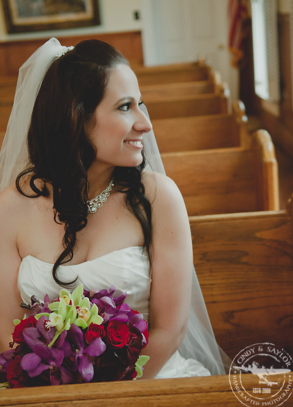 bride in vintage chapel in dallas texas area