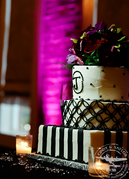 cake by Sweet Art Bakery at rick's chophouse ballroom at the grand hotel in mckinney texas