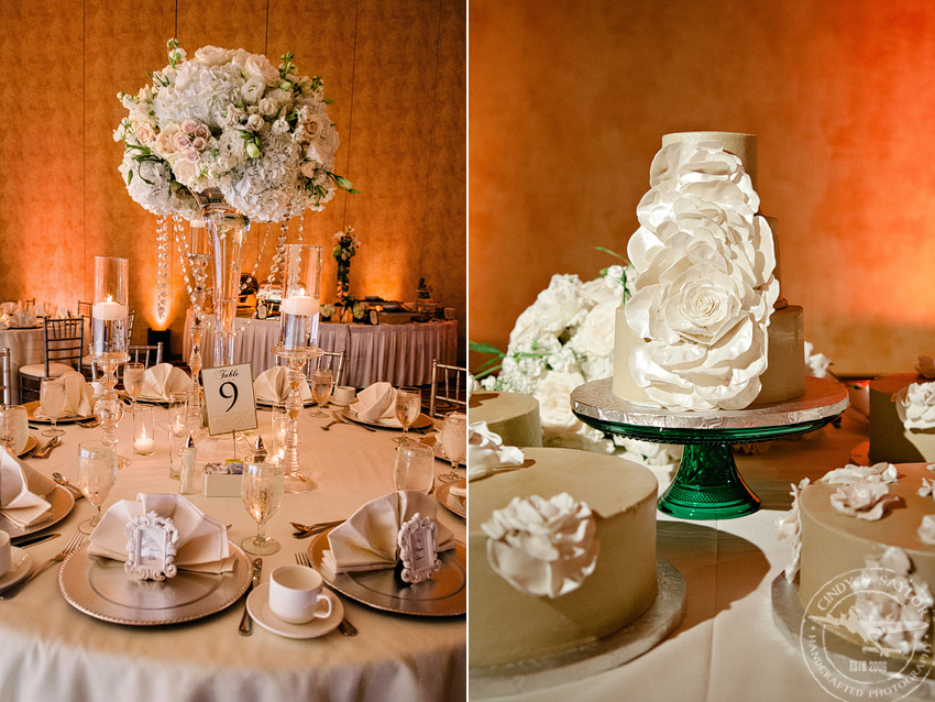 flowers by Bella Flora of Dallas and Wedding Cake by Delicious Cakes