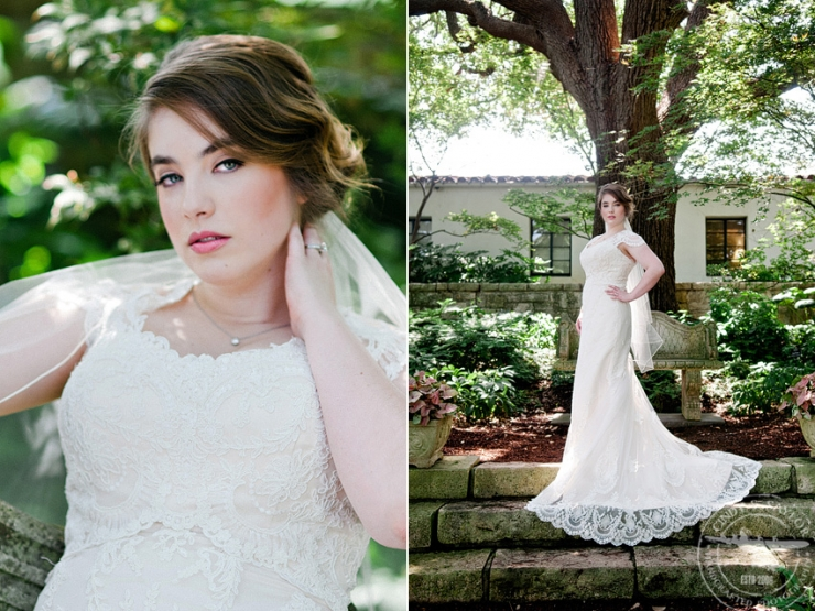 vintage inspired bride at dallas arboretum with makeup by something you and dress from stardust