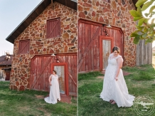 rustic bridal session bride is wearing her grandmothers dress in frisco texas
