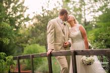 bride and groom portraits at Clark Gardens Wedding photos by Cindy & Saylor Photographers