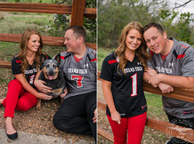texas tech couple engagement at Arbor Hills in Plano, TX   photos by Cindy and Saylor