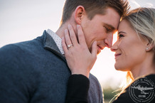 white rock lake sunset engagement session   photos by cindy and saylor