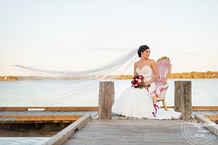 Bridal at White Rock Lake by the Filter Building | Photos by Cindy & Saylor, Makeup by Anastasia Strattan; Vintage Rental by Rent My Dust