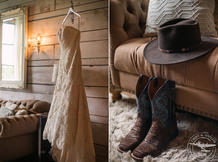 wedding at morgan creek barn at the milestone aubrey texas